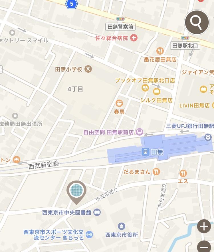 OK Nishitokyoアクセスマップ